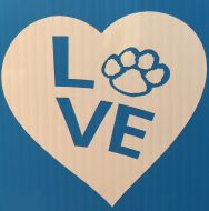 Love-Heart with Paw